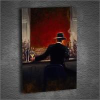 Artmoda - Kabartmalı Red Hall Man Tablo
