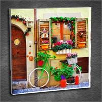 Artmoda - Kabartmalı Bisiklet Ve Çiçekler Tablo