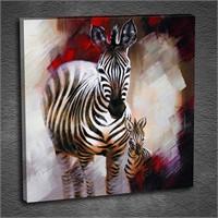 Artmoda - Kabartmalı Zebra Tablo