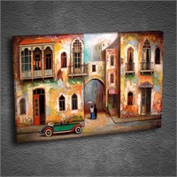 Artmoda - Kabartmalı Old Street Tablo