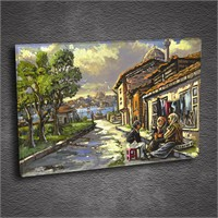 Artmoda - Kabartmalı İstanbul Tablo