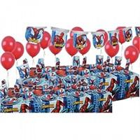Partişöleni Spiderman Doğum Günü Parti Seti 16 Kişilik