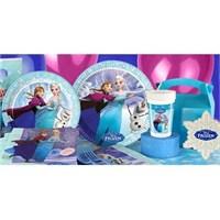 Partişöleni Karlar Ülkesi Frozen Doğum Günü Parti Seti 24 Kişilik Super Set