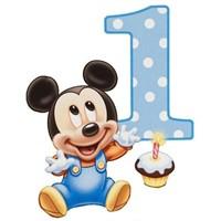 Partişöleni Baby Mickey Doğum Günü Parti Seti 24 Kişilik