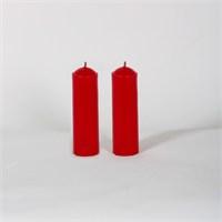 Kırmızı 32-11 2'Li Beş Çiçek Kokulu Bar Mum