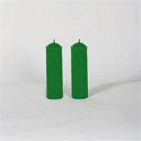 Yeşil 32-11 2'Li Elma Kokulu Bar Mum