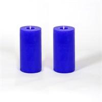 Mavi 5*10 Cm Kokusuz 2'Li Silindir Mum