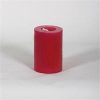 Kırmızı 6.5*10 Cm Beş Çiçek Kokulu Silindir Mum