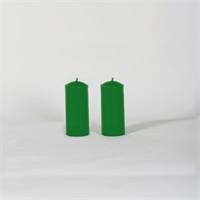 Yeşil 32-7 2'Li Elma Kokulu Bar Mum