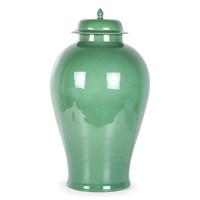 Altıncı Cadde Porselen Vazo Yeşil 74 Cm