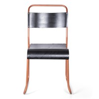 Altıncı Cadde Metal Sandalye Siyah Ahşap 45X90.5 Cm