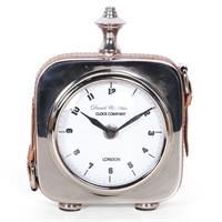 Altıncı Cadde Deri Kayışlı Gümüş Renk Masa Saati 13 Cm