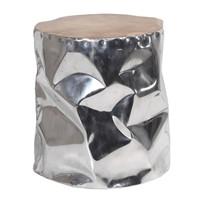 Altıncı Cadde Alüminyum Kaplama Tik Tabure 35X45 Cm