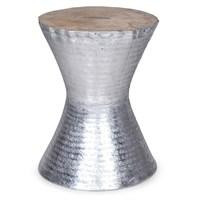 Altıncı Cadde Kum Saati Formlu Aluminyum Tabure 35X46 Cm