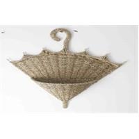 Rem Dekoratif Hasır Askılı Sepet