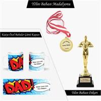 Babalar Gününe Özel Madalyon,Oskar,Kupa Bardak Seti