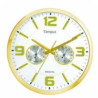Regal 0913-Gwz Isı Ve Nem Ölçer Duvar Saati
