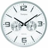 Regal 0913-Swz Isı Ve Nem Ölçer Duvar Saati