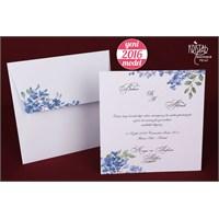 Çiçekli Zarfıyla Takım Düğün Davetiye 100 Adet Zarflı