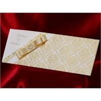 Vintaj Düğün Davetiye 100 Adet Zarfsız