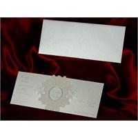 Simli Düğün Davetiye 100 Adet Zarflı