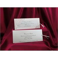 Çekmeli Düğün Davetiye 100 Adet Zarfsız