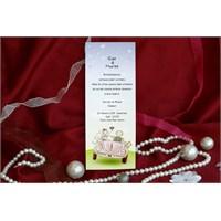 Gelin Arabalı Ucuz Düğün Davetiye 100 Adet Zarflı