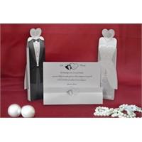 Kutulu Düğün Davetiye 100 Adet Zarfsız