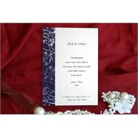 Sade Ucuz Düğün Davetiye 100 Adet Zarflı