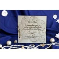 Kalpli Düğün Davetiye 100 Adet Zarflı