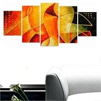 Tictac Renkler 5 Parça Kanvas Tablo