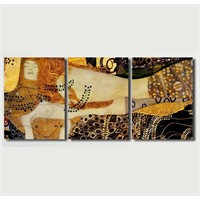 Tictac 3 Parça Kanvas Tablo - Gustav Klimt