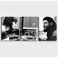 Tictac 3 Parça Kanvas Tablo - Che Ve Lennon