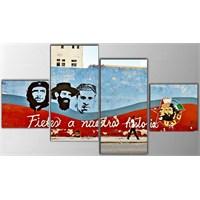 Tictac 4 Parça Kanvas Tablo - Che
