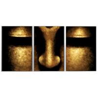 Tictac 3 Parça Kanvas Tablo - Buddha