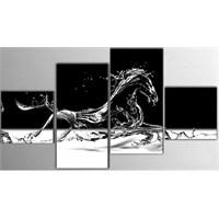 Tictac 4 Parça Kanvas Tablo - Koşan At
