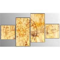 Tictac 4 Parça Kanvas Tablo - Astronomi
