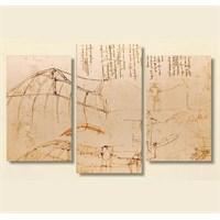 Tictac 3 Parça Kanvas Tablo - Da Vinci
