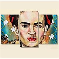 Tictac 3 Parça Kanvas Tablo - Frida