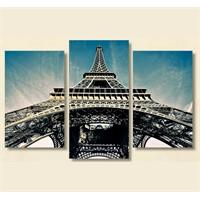 Tictac 3 Parça Kanvas Tablo - Eyfel Kulesi