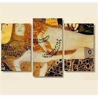 Tictac 3 Parça Kanvas Tablo - Klimt