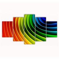 Tictac Renkler 5 Parça Kanvas Tablo - 100X60 Cm
