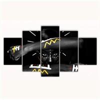 Tictac 5 Parça Kanvas Tablo - Etnik Kadın - 100X60 Cm