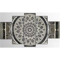 Tictac 5 Parça Kanvas Tablo - Dome - 100X60 Cm
