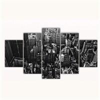 Tictac 5 Parça Kanvas Tablo - New York - 100X60 Cm