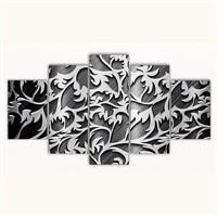 Tictac 5 Parça Kanvas Tablo - Dekoratif - 100X60 Cm
