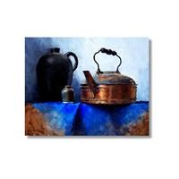 Tictac Bakır Çaydanlık Kanvas Tablo - 50X75 Cm