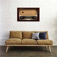 Tictac Eski Radyo 5 Kanvas Tablo - 50X75 Cm