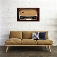 Tictac Eski Radyo 5 Kanvas Tablo - 60X90 Cm