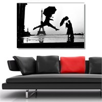 Tictac Paris Ve Dans Kanvas Tablo - 40X60 Cm